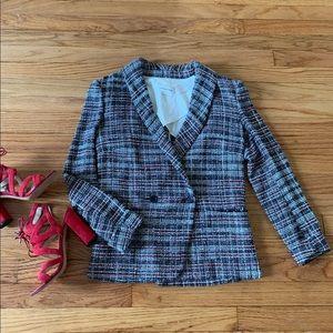 Isabel Marant Etoile Red Black Tweed Blazer